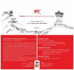 Exhibition and book launch of 'Prathaa: Kath-khuni architecture of Himachal Pradesh'